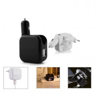 Personalized 2 In 1 Car And Home Charger With 2 Usb Ports (V O L T - Duo) / On The Way