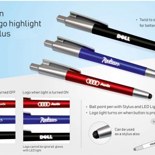 Personalized 3 In 1 Pen With Logo Highlight And Stylus