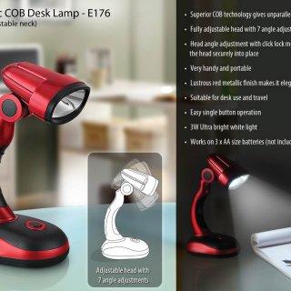Personalized 3w cob desk lamp (click adjustable neck)