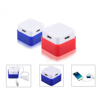 Personalized 4 Ports Usb Hub (V O L T - Hub 4) / Blue, Red