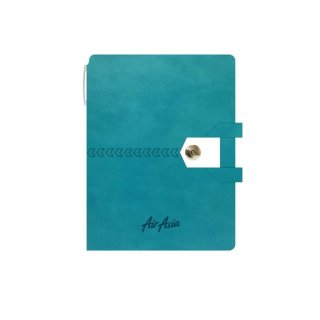Personalized Air Asia A5 Notebook (Green)