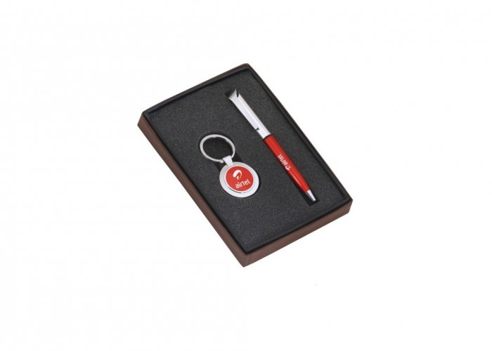 Personalized Airtel (Ball Pen+ Key-Chain) Gift Set