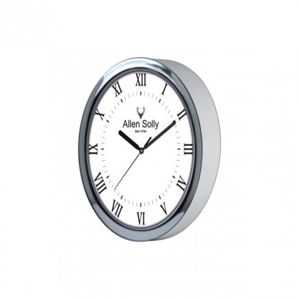 "Personalized Allen Solly Chrome Plated Wall Clock (10.5"" Dia)"