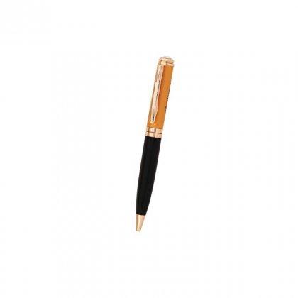 Personalized Allergan Black-Orange-Copper Metal Pen With Box