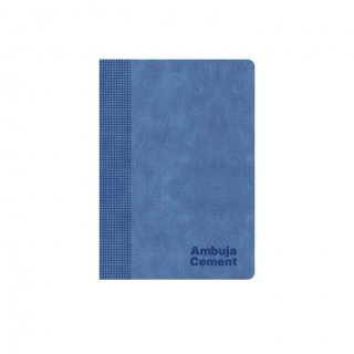 Personalized Ambuja Cement A5 Notebook (Blue)