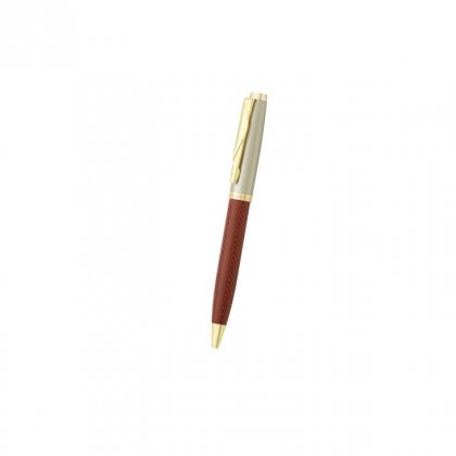 Personalized Amway Maroon-Gry Metal Pen With Box