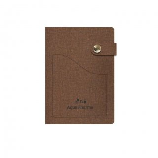 Personalized Aqua Pharma A5 Notebook (Brown Color)