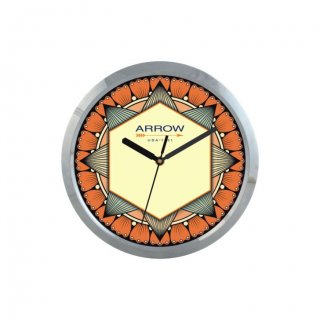 "Personalized Arrow Chrome Plated Wall Clock (9"" Dia)"