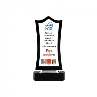 "Personalized Asian Paints Printing Size Trophy (6""X2"")"
