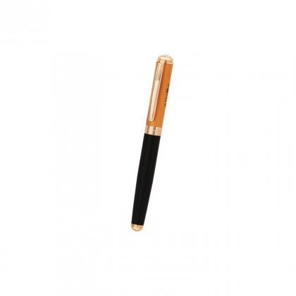 Personalized Atomos (Roller) Black-Orange-Copper Metal Pen With Box