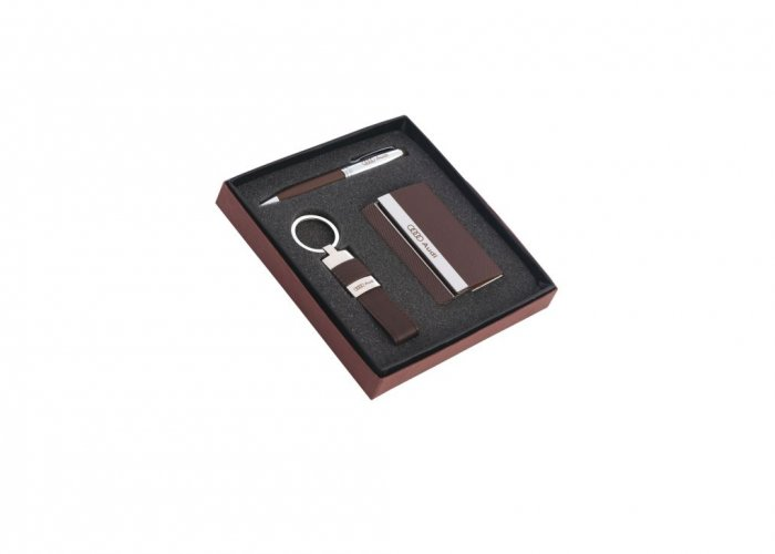 Personalized Audi (Pen + Visiting Card + Key-Chain) Gift Set