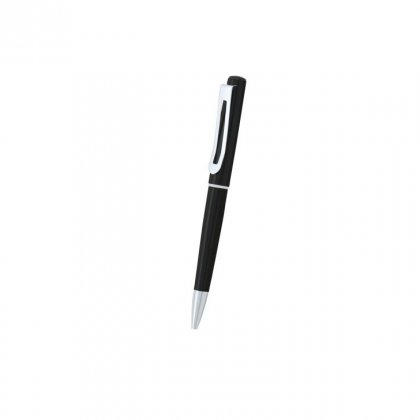 Personalized Auto Log Black-Silver Metal Pen With Box