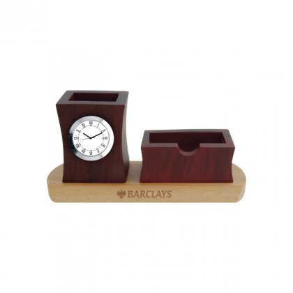 "Personalized Barclays Engraving Area Table Clock (0.5""X2.5"")"