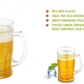 Personalized Beer Mug Yellow (360 Ml)