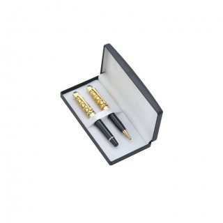 Personalized Bergan Travel Golden-Black Pen Set With Box