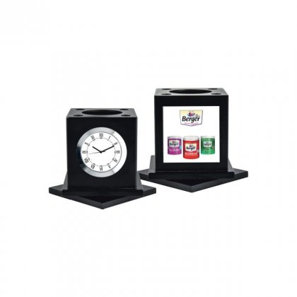 "Personalized Berger Paints Colour Printing Table Clock (2.25""X2.25"")"