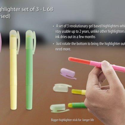 Personalized big highlighter set of 3 (gel based)