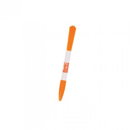 Personalized Birla White White-Orage Promotional Pen