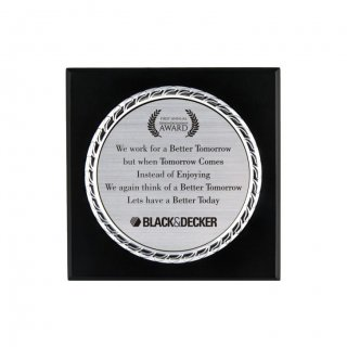 "Personalized Black&Decker Engraving Area Memento (4"" Dia)"