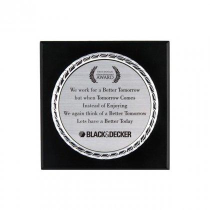 "Personalized Black&Decker Engraving Area Memento (4"" Dia)"