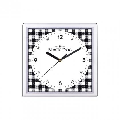 "Personalized Black Dog Wall Clock (9""X9"")"