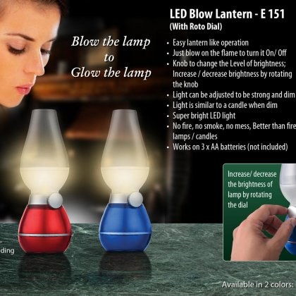 Personalized blow lantern with roto dial (compact size)