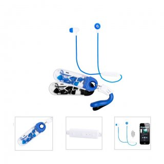 Personalized Bluetooth Earphone Set (R H Y T H M - Blupod) / Black, Blue