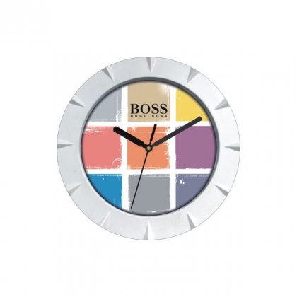 "Personalized Boss Chrome Plated Wall Clock (7.75"" Dia)"