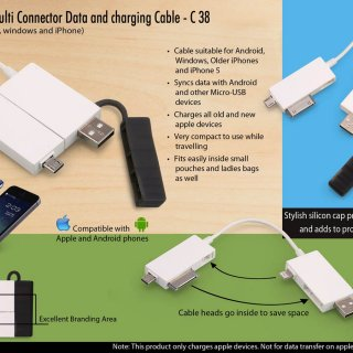 Personalized boxed: multi connector data and charging cable