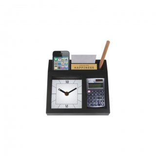 "Personalized Cal. Happiness With Calculater Table Clock (0.5""X2"")"