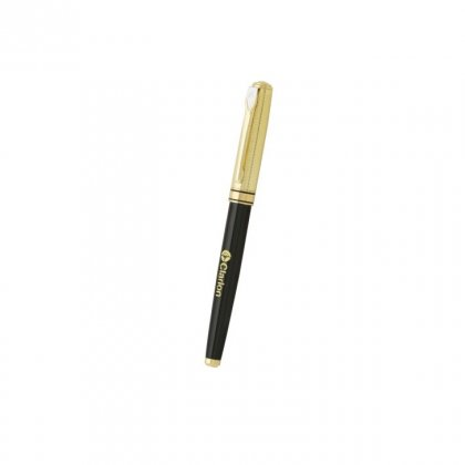 Personalized Calrion Black-Golden Metal Pen With Box