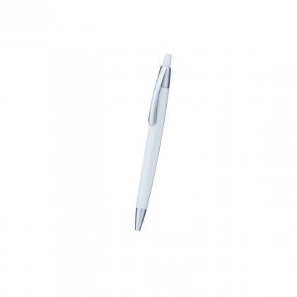 Personalized Cameron White-Silver Promotional Pen