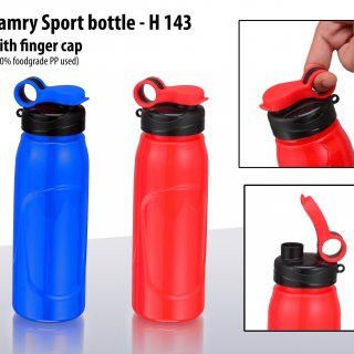 Personalized camry sport bottle with finger cap