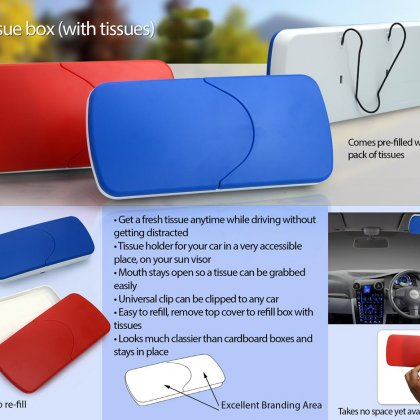 Personalized Car Tissue Box (With Tissues)