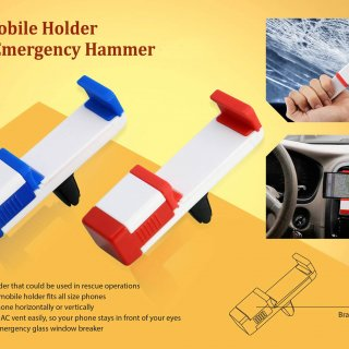 Personalized Car Vent Mobile Holder With Emergency Hammer