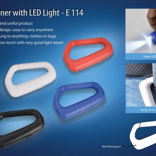 Personalized carabiner with led light (with battery)