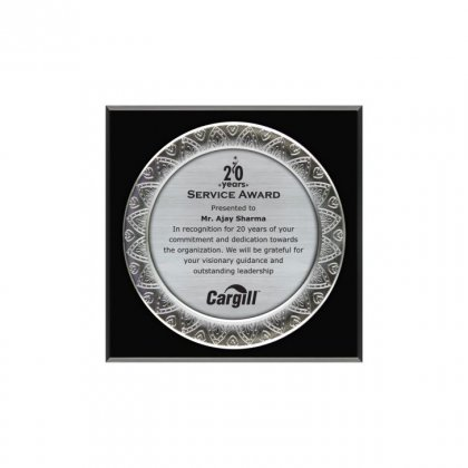 "Personalized Cargill Engraving Area Memento (5.5"" Dia)"