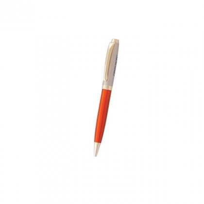 Personalized Centurian Orange-Grey Metal Pen With Box