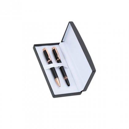 Personalized Christian Dior Black/Copper Pen Set With Box