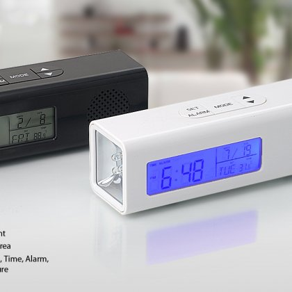 Personalized Clock With Radio And Torch