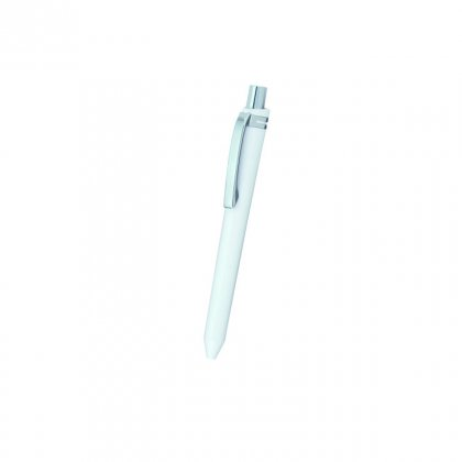 Personalized Cnbc White-Silver Metal Pen