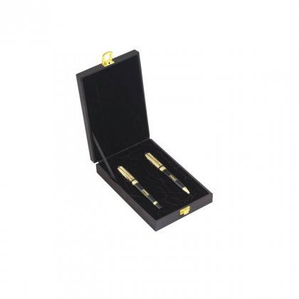 Personalized Compaq Better Answers Black/Golden Pen Set With Box