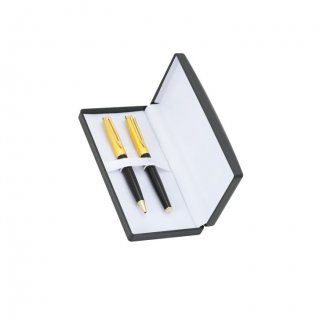 Personalized Compu Link Golden-Black Pen Set With Box