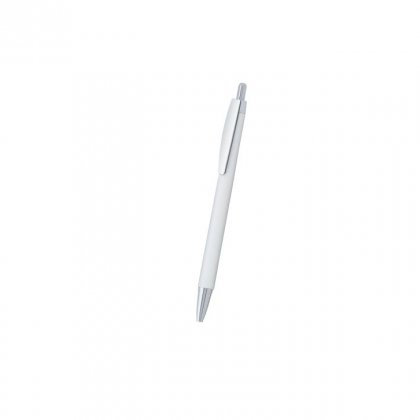 Personalized Credit Agricole White-Silver Promotional Pen