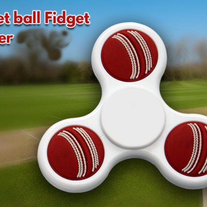 Personalized Cricket Ball Fidget Spinner