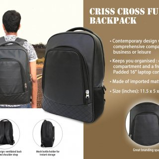 Personalized Criss Cross Full Pu Backpack