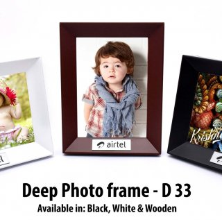 Personalized deep photo frame (with metal plate)