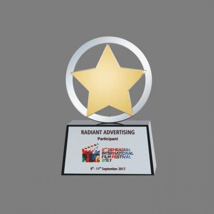 Personalized Dehradun Film Festival Star Trophy