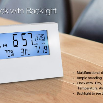 Personalized Desk Clock With Backlight