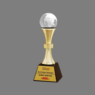 Personalized Dhl Award Trophy